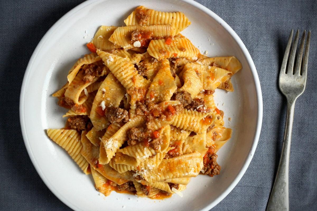 Garganelli with ragu alla bolognese