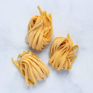 Fresh tagliatelle pasta