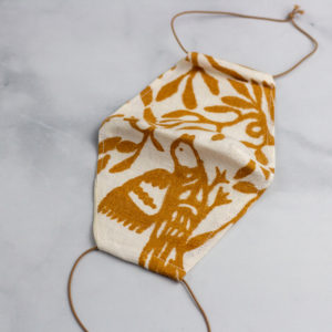 Handmade cotton mask with nature print