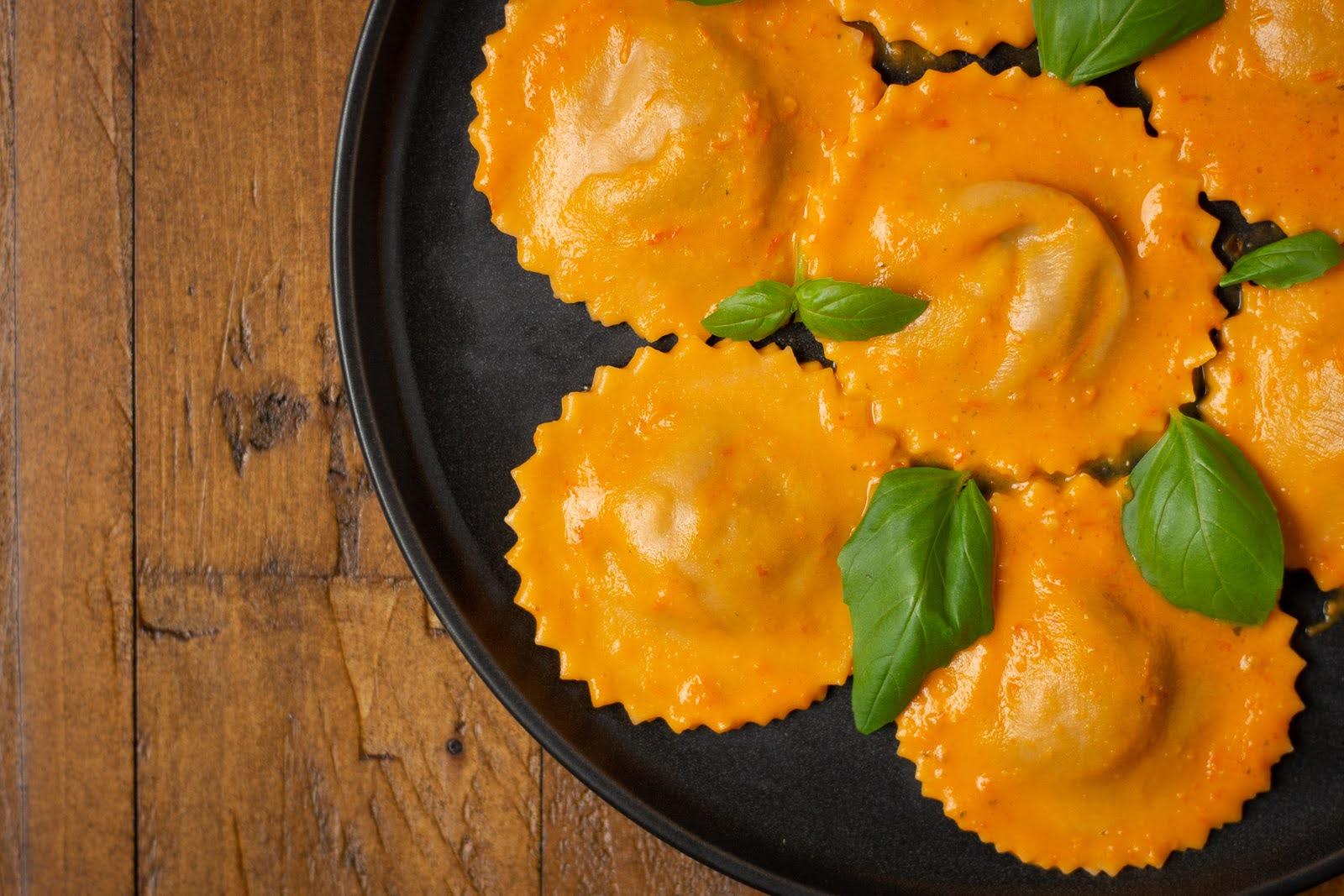 Tomato Eggplant Ravioli - q.b. cucina