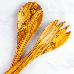 Olive wood Salad servers - q.b. cucina