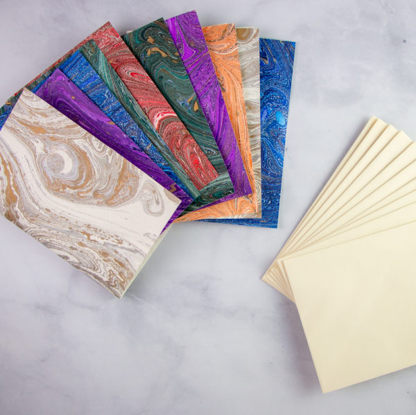 Marbled stationery with envelopes