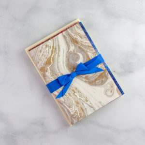 Hand-marbled Italian stationery set