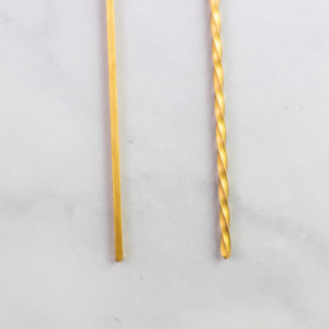 Detail of brass pasta tools for maccheroni