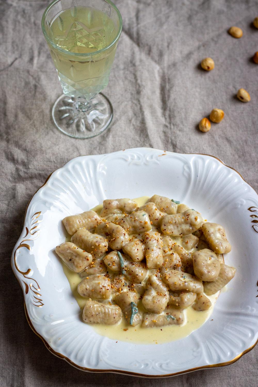 Hazelnut Gnocchi with Creamy Gorgonzola - qb cucina
