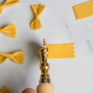Brass pasta wheel cutter