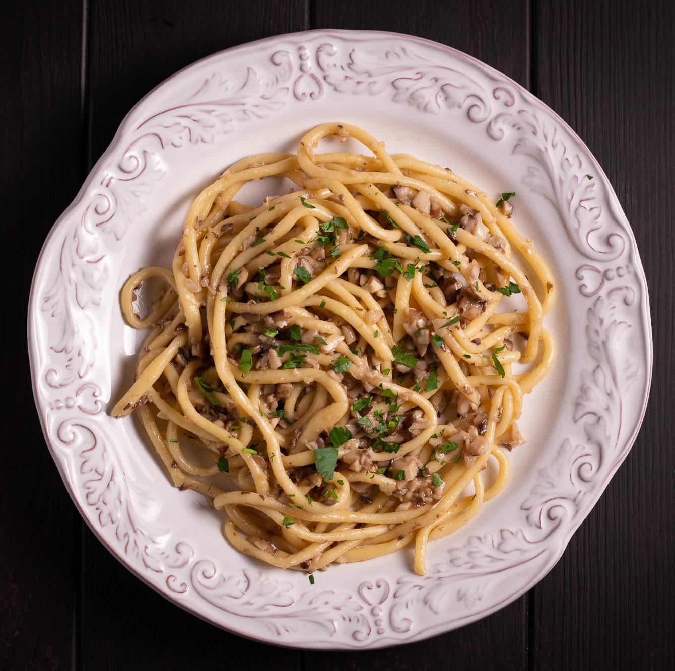Truffle Mushroom Pici Pasta