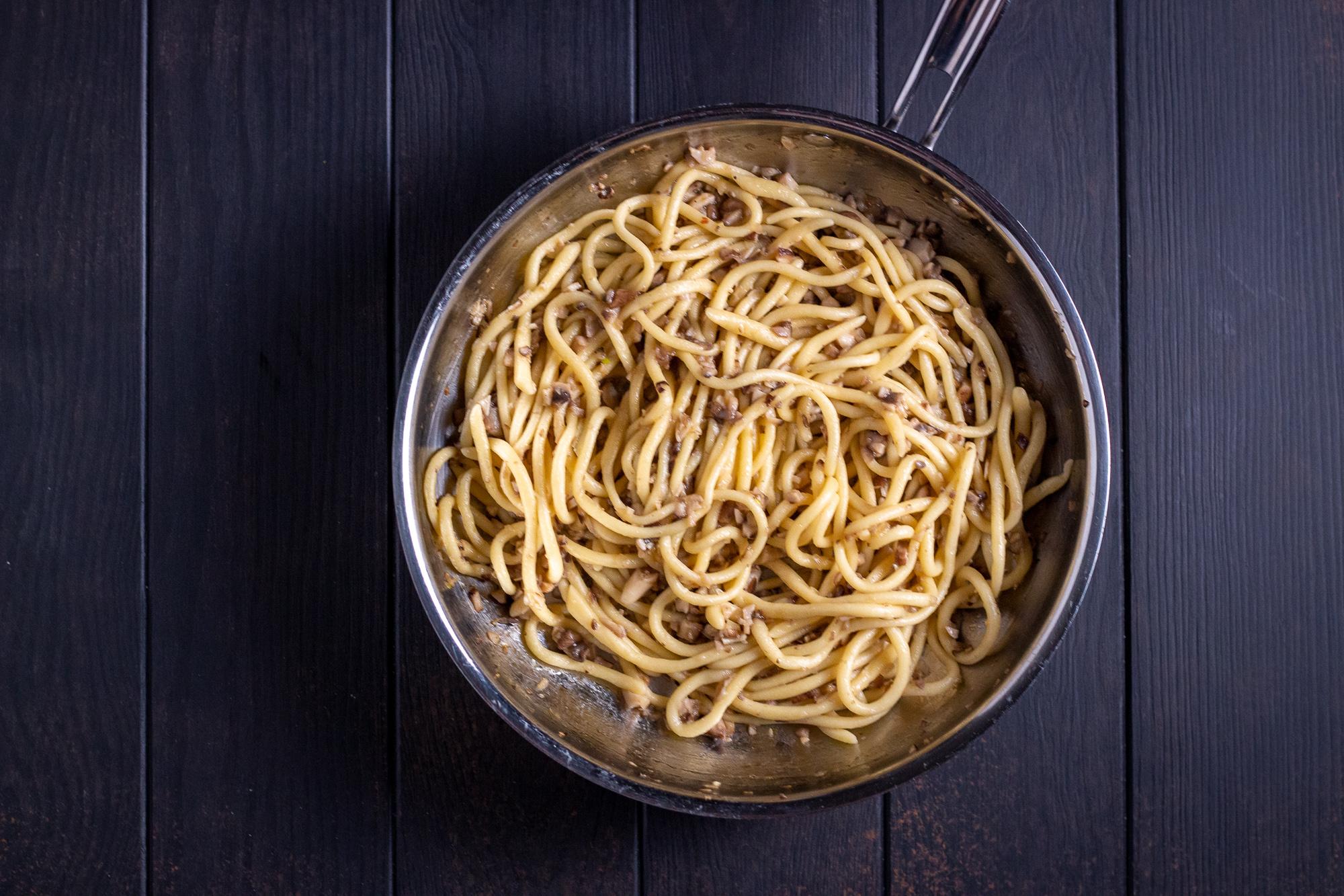 Truffle Mushroom Pici Pasta - q.b. cucina