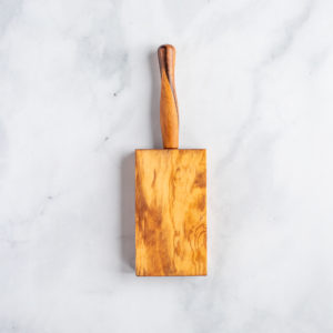 Olive wood gnocchi board from Italy