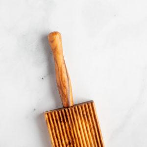 Olive wood gnocchi board pasta tool