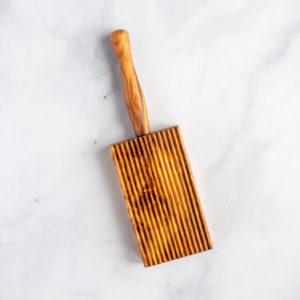 Italian olive wood gnocchi board