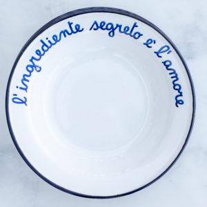 Italian enamelware bowl for pasta