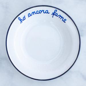 Italian enamel low bowl