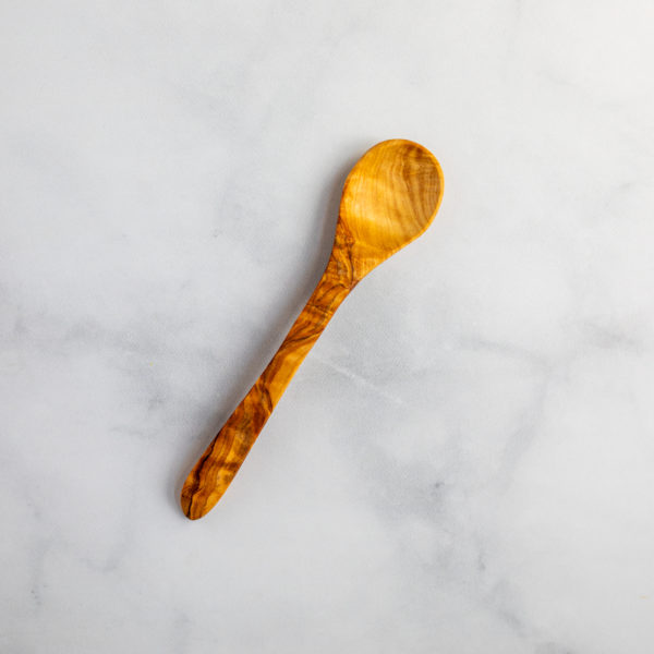 Small olive wood teaspoon made in Italy