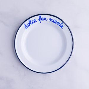 Dolce far niente dessert plate
