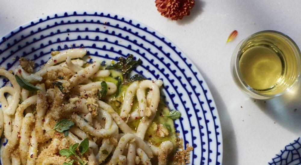 succaredi pasta lemon anchovy cream sauce by Alessandra Lauria - qbcucina
