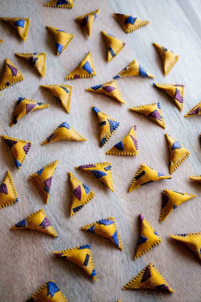 90s pasta triangles - Pasta et Al