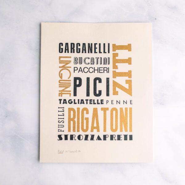 Italian Typography Pasta Print
